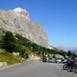 Motorradfahren in den Dolomiten. Foto: Ralf  / pixelio.de
