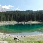 Der wunderschöne Karersee in Südtirol.