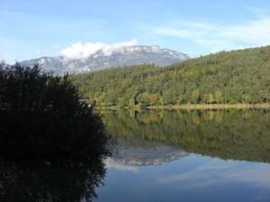 Der Montiggler See bei Eppan