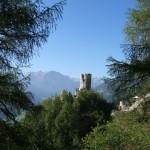 Blick auf die Burgruine: Ein Tagesauflug lohnt in jedem Fall.